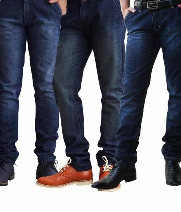 Ben Carter Men's Faded Jeans - Set Of 3 Denims