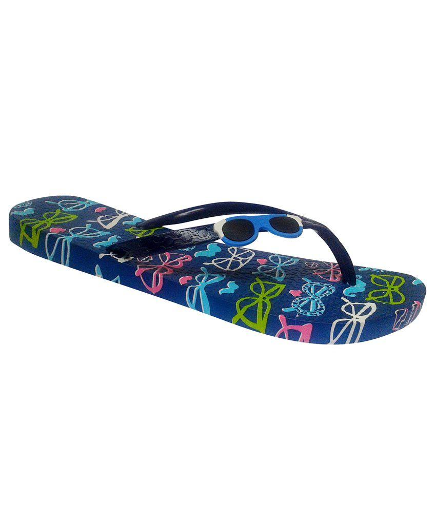 N N Enterprise Blue Flat Slippers