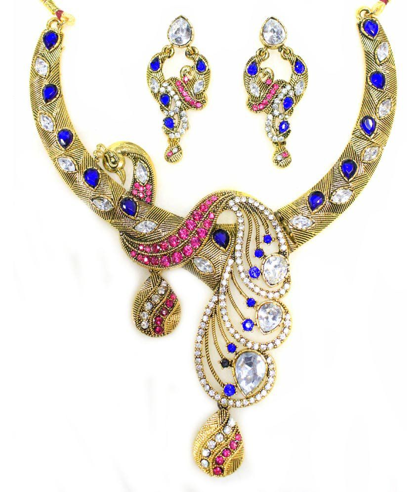 pearl point studded mahavir designer silver product necklace online swatch
