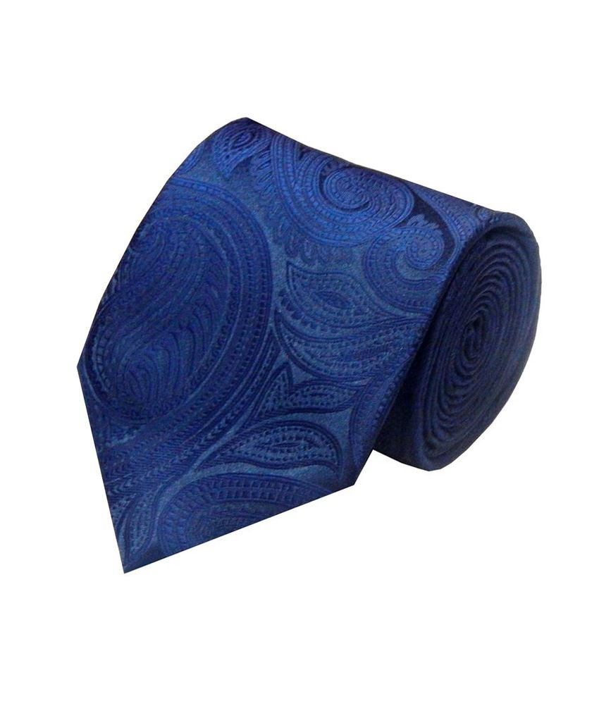 Navaksha Nevy Blue Micro Fibre Formal Broad Tie