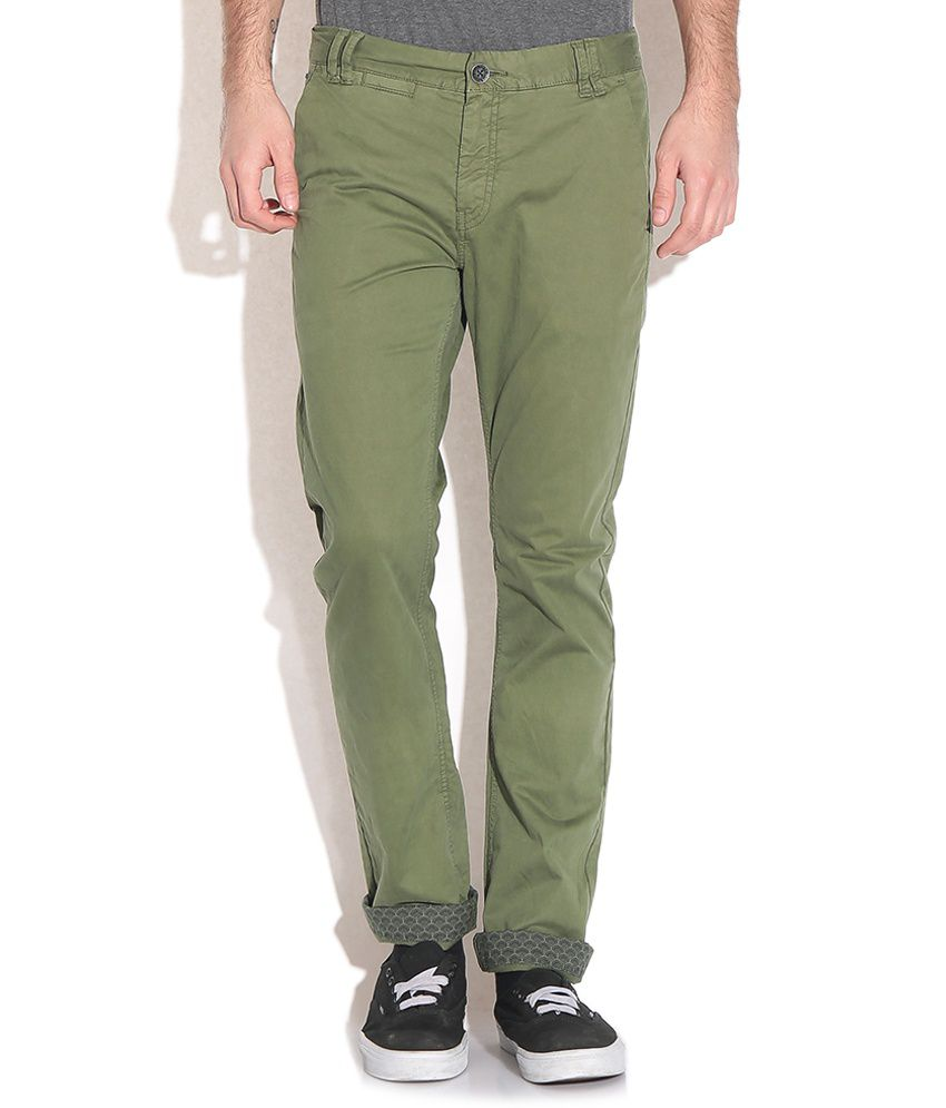 Being Human Green Slim Casuals