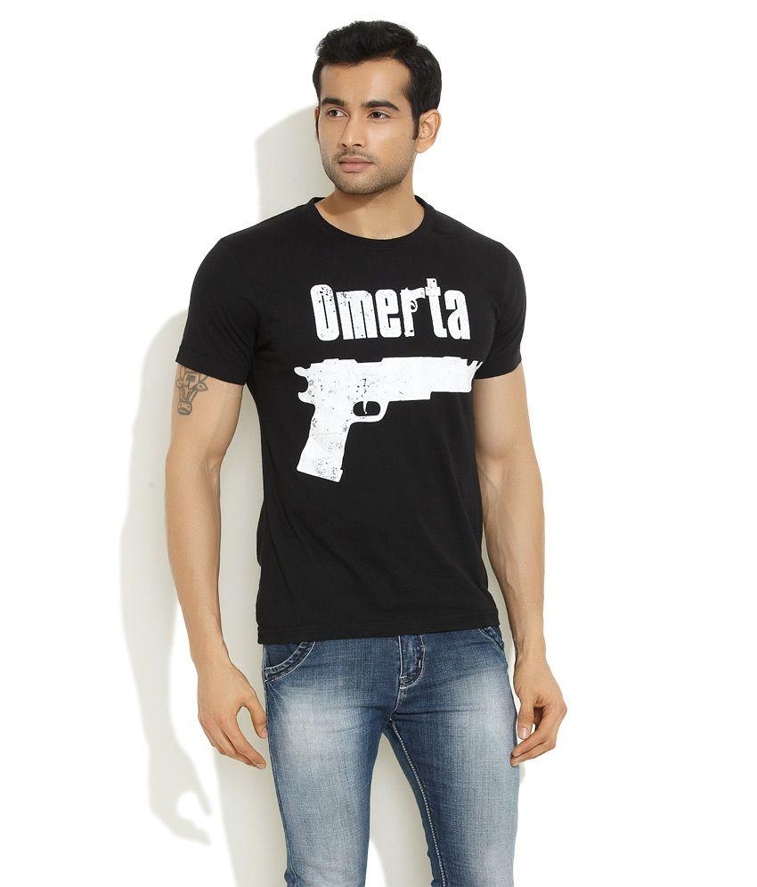 Smugglerz Black Omerta Gangsta T-Shirt