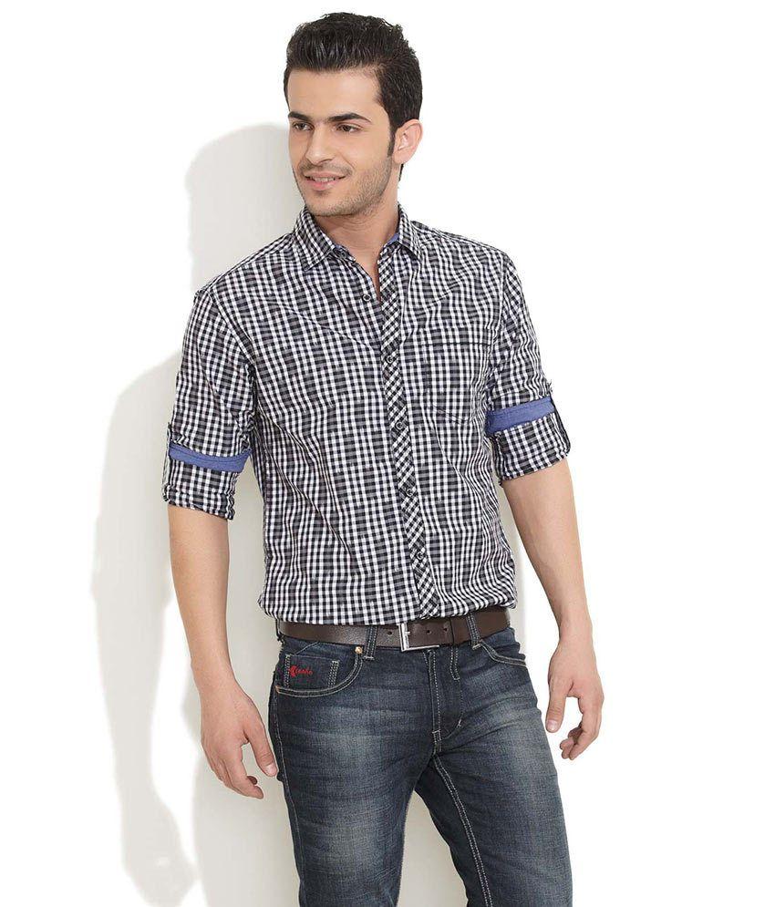 The Indian Garage Co. Black Sedate Gingham Shirt