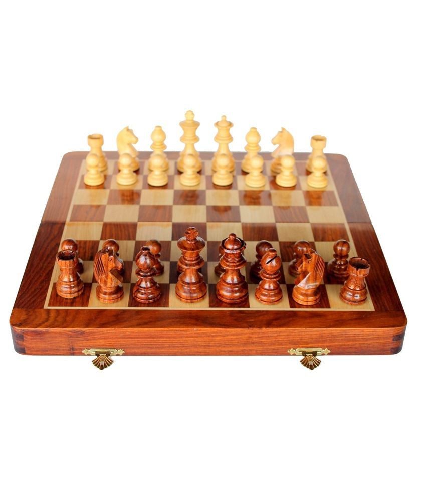 And Retails Wooden Folding Chess Game Set