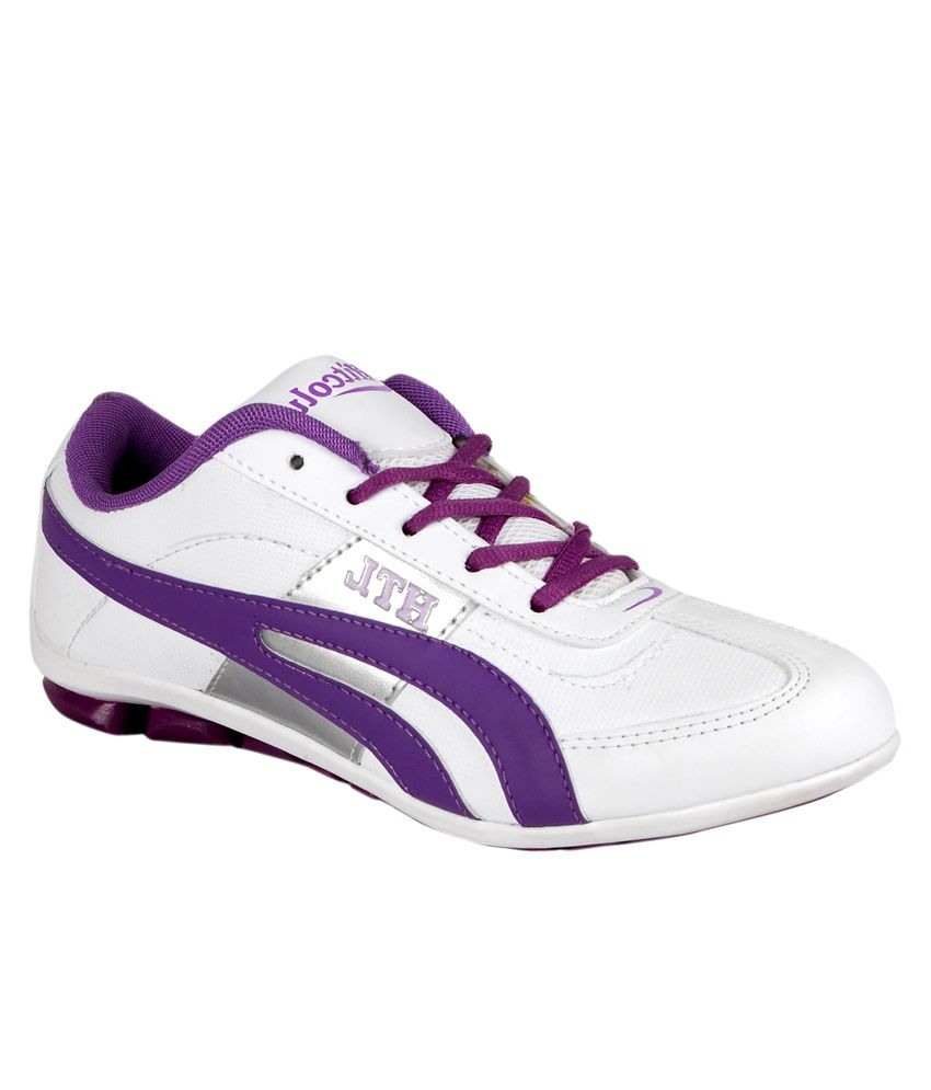 Hitcolus White & Purple Sport Shoes