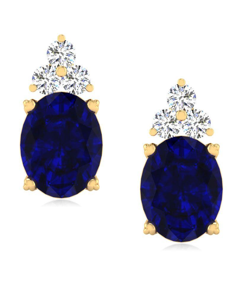 Iskiuski Fanciable Blue Sapphire Earrings