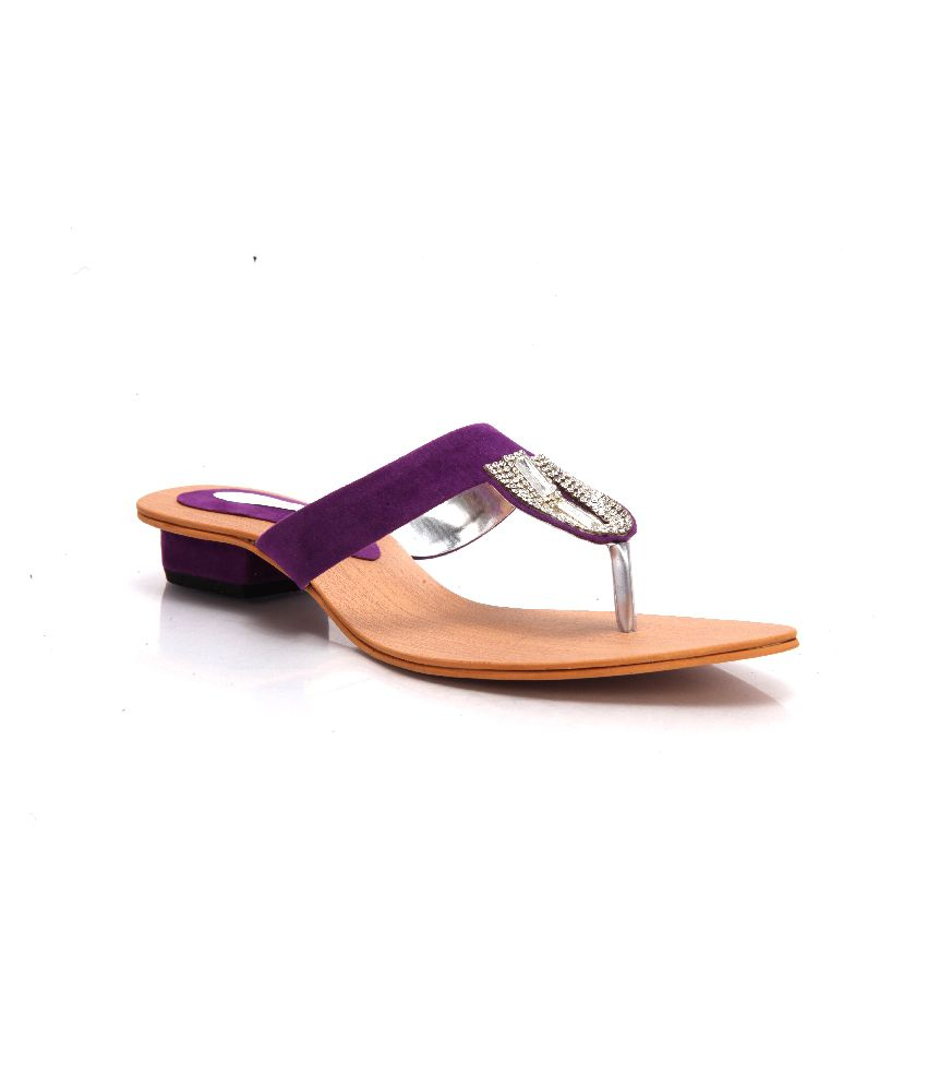 Latest Purple Low Heeled Slip-ons