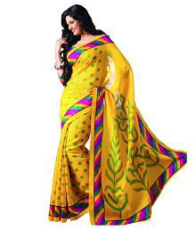 Grandiose Yellow Bhagalpuri Silk Saree