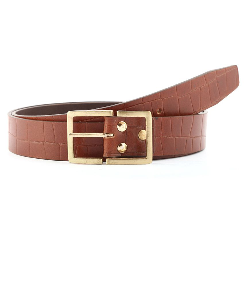 Buckleup Tan Casual Leather Belt For Men