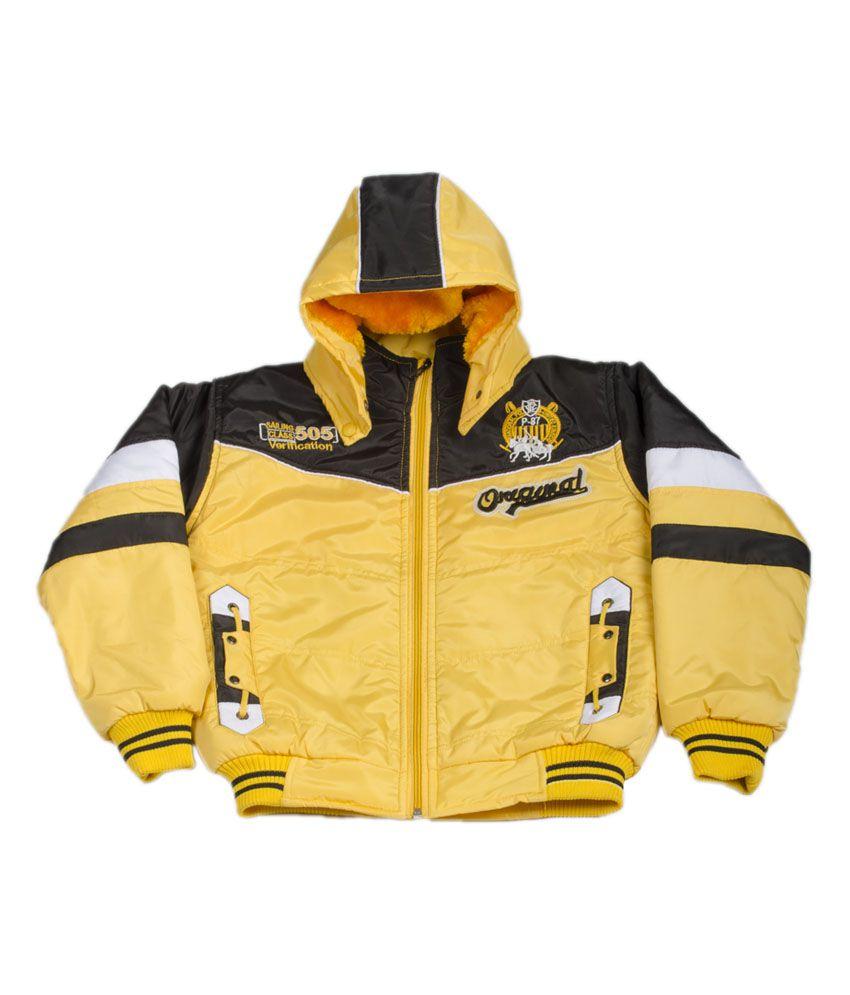P-87 Stylish Full Sleeve Fashion Jacket For Girls - Yellow