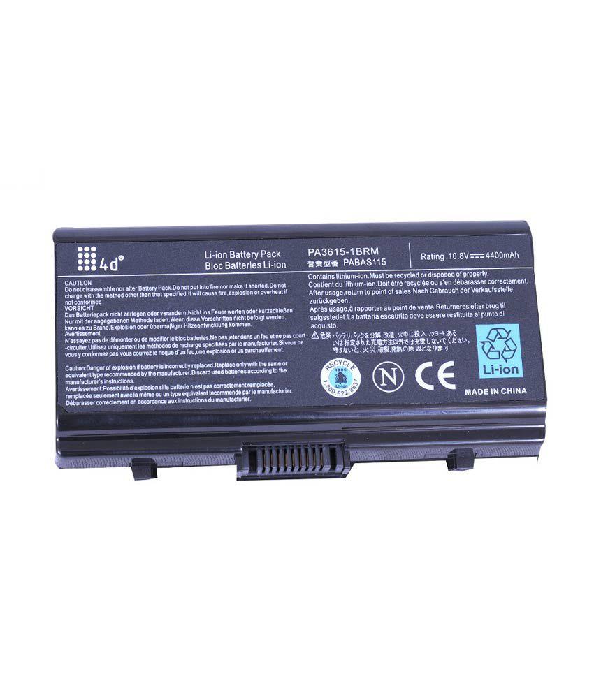 4d Toshiba L40-psl48e 6 Cell Laptop Battery