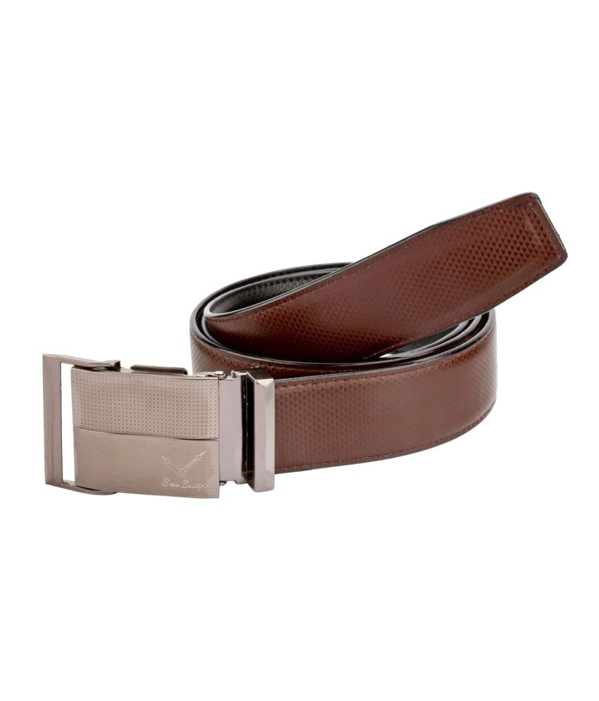 Bigzee Elegant Classy Reversible Brown And Black Belt