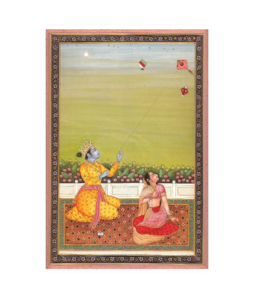 Exotic India Radha Krishna Flying Kite Religious Painting: Buy ...