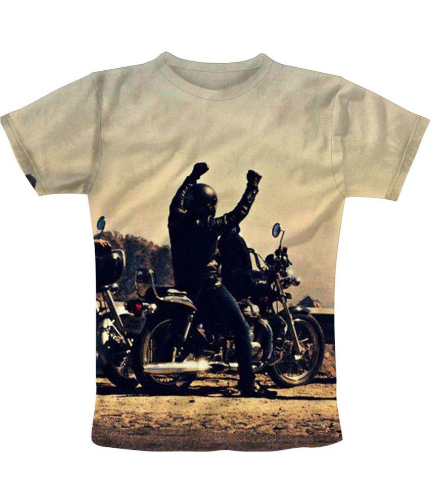 Freecultr Express Beige Cotton Blend T-shirt