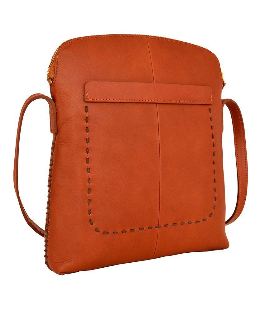 bbe54ff20f Hidesign ASCOT 03 Tan Leather Sling Bag - Buy Hidesign ASCOT 03 Tan ...