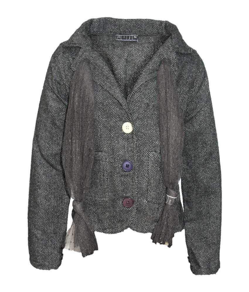 Mijn Full Sleeves D.Grey Color Jacket For Kids