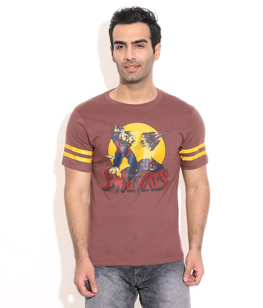 White Kalia Swat Cats Brown T-shirt
