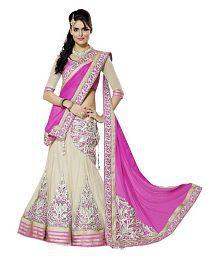 Moh Manthan Pink & Beige Color Net Lehenga