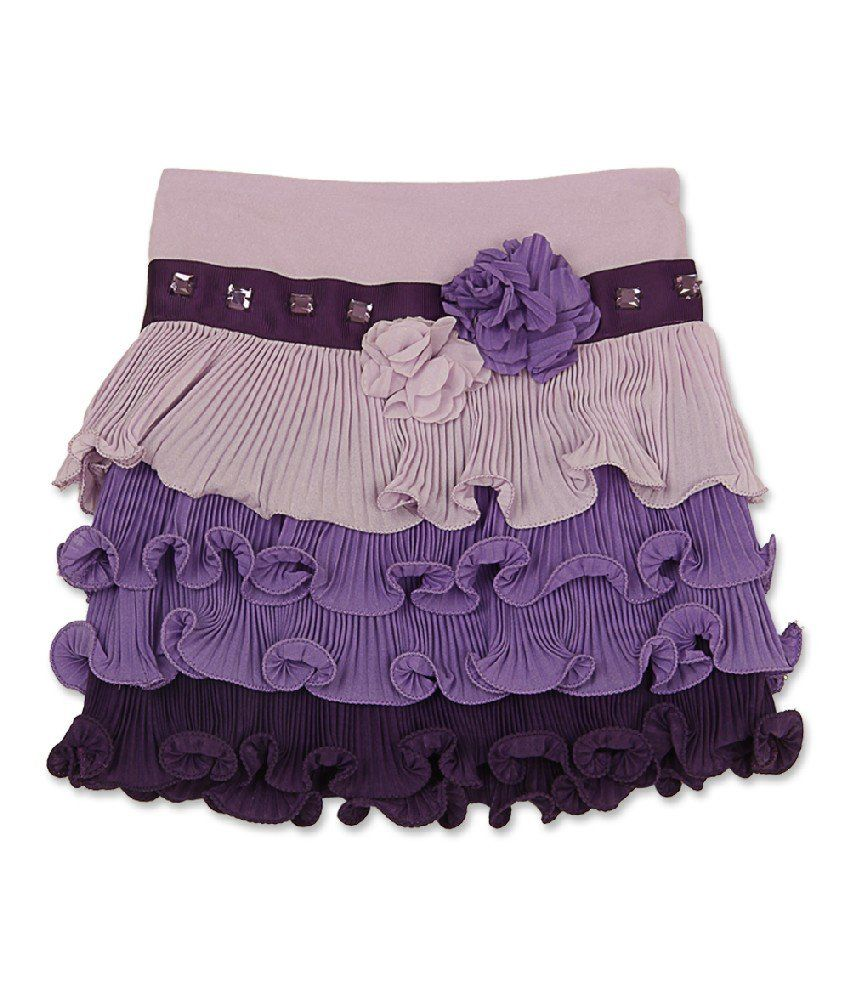 Cutecumber Purple Color Skirt For Girls