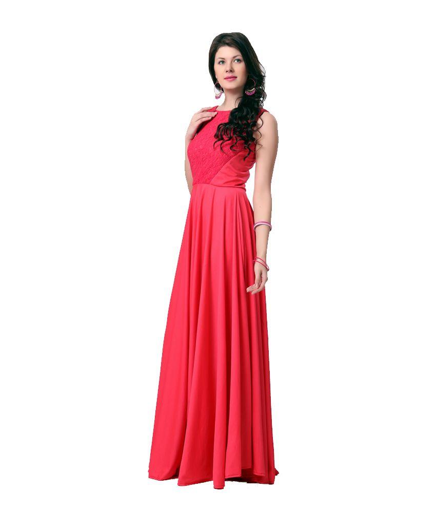 c5723b63d1f19 Eavan Pink Fit And Fare Maxi Dress - Buy Eavan Pink Fit And Fare ...