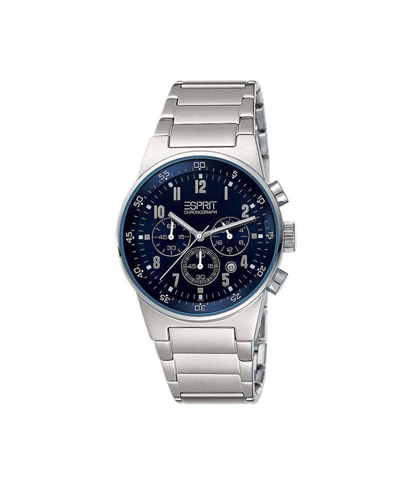 Esprit Blue Metal Casual Chronograph Mens Watch with free