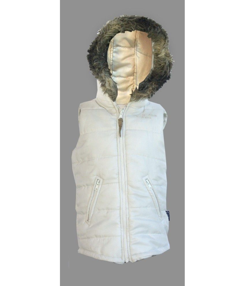 Gron Stockholm Sleeveless White Color Jacket For Kids