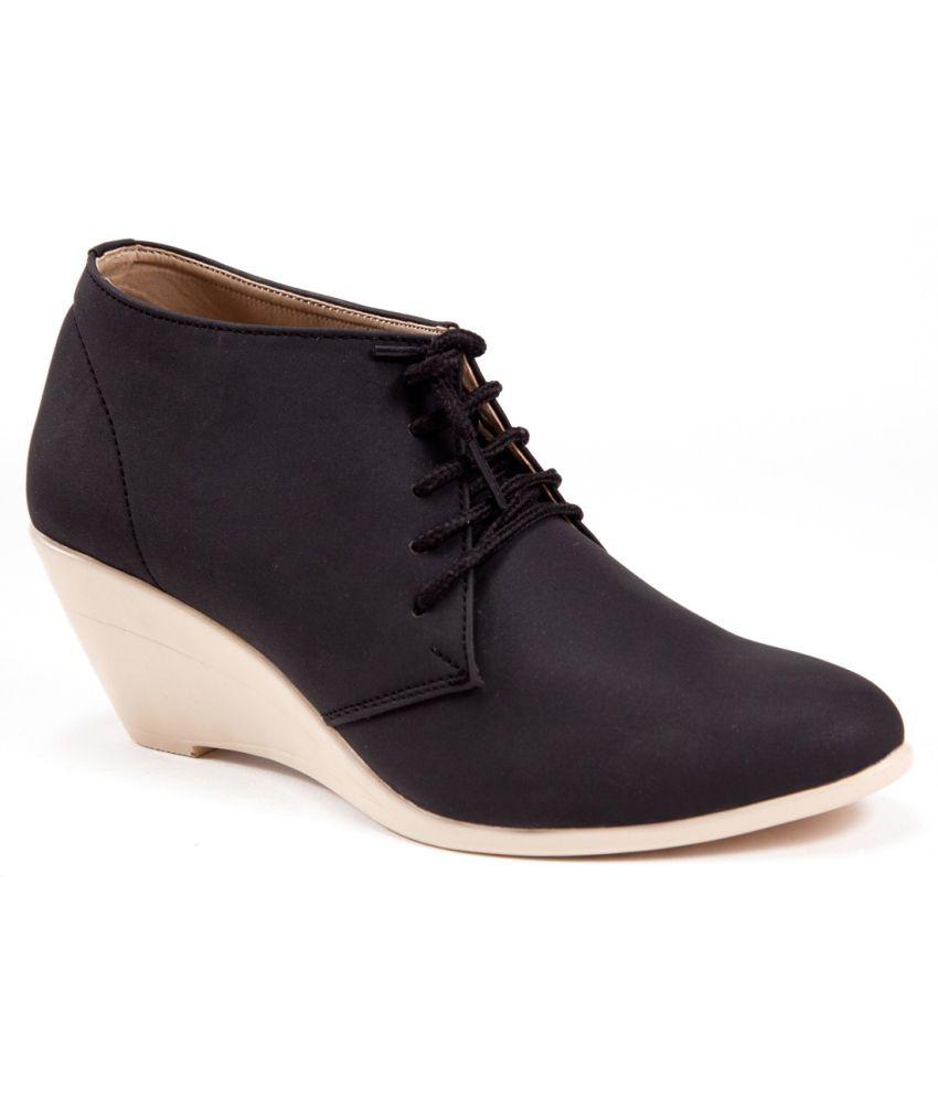 MARC LOIRE Black Ankle Length Cowboy Heels