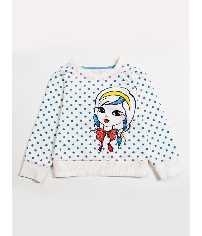 Nauti Nati Ecru Color Sweatshirts For Kids