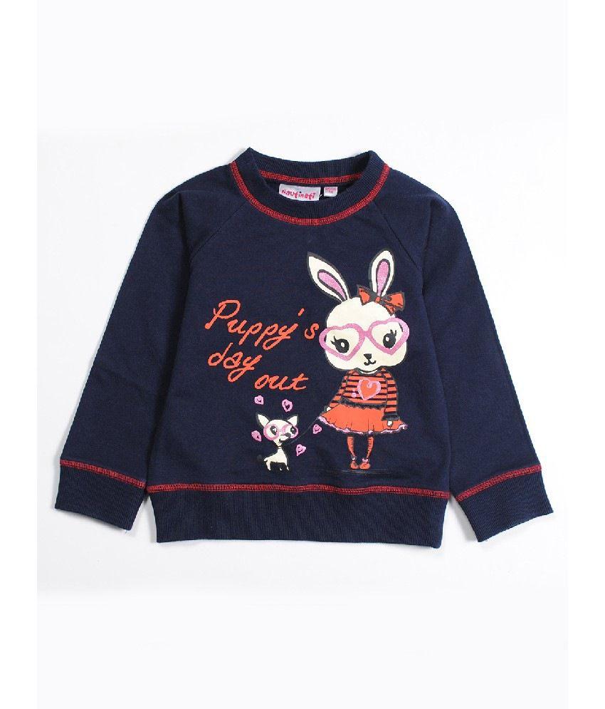 Nauti Nati Navy Color Sweatshirts For Kids