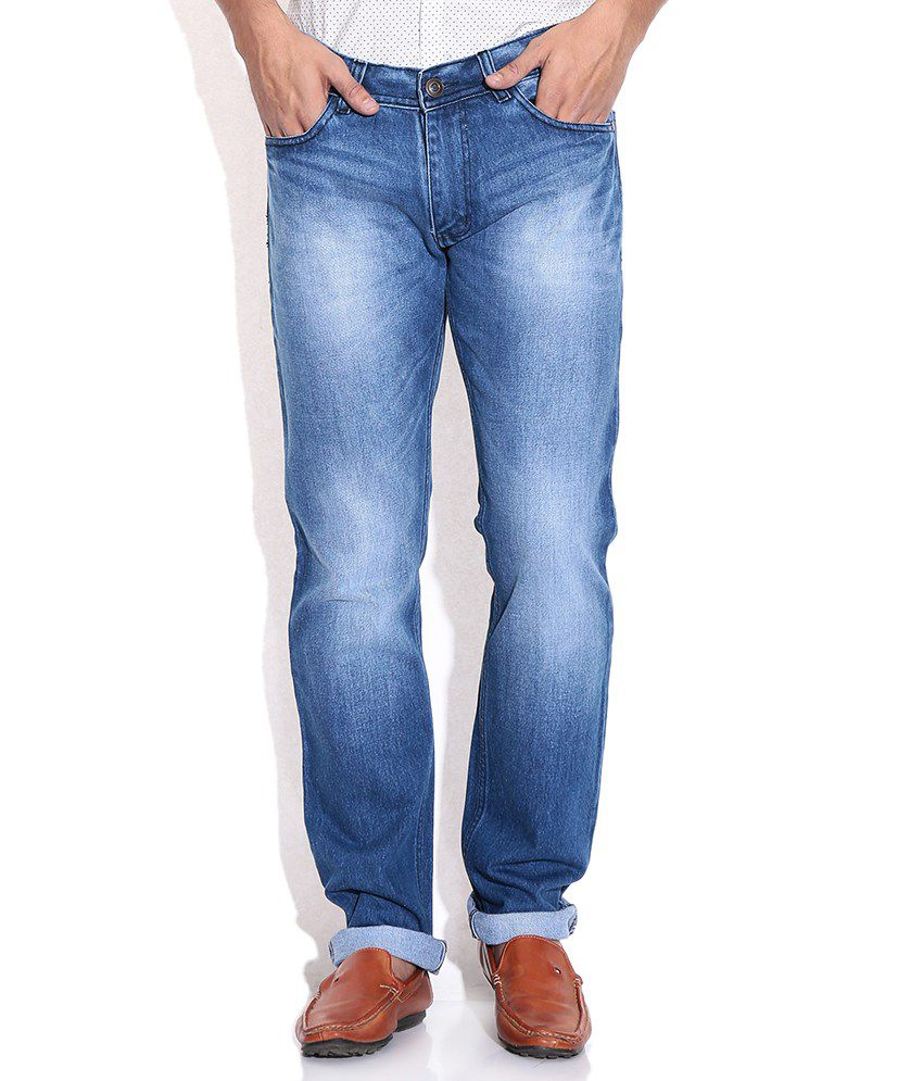 Newport Blue Straight Jeans