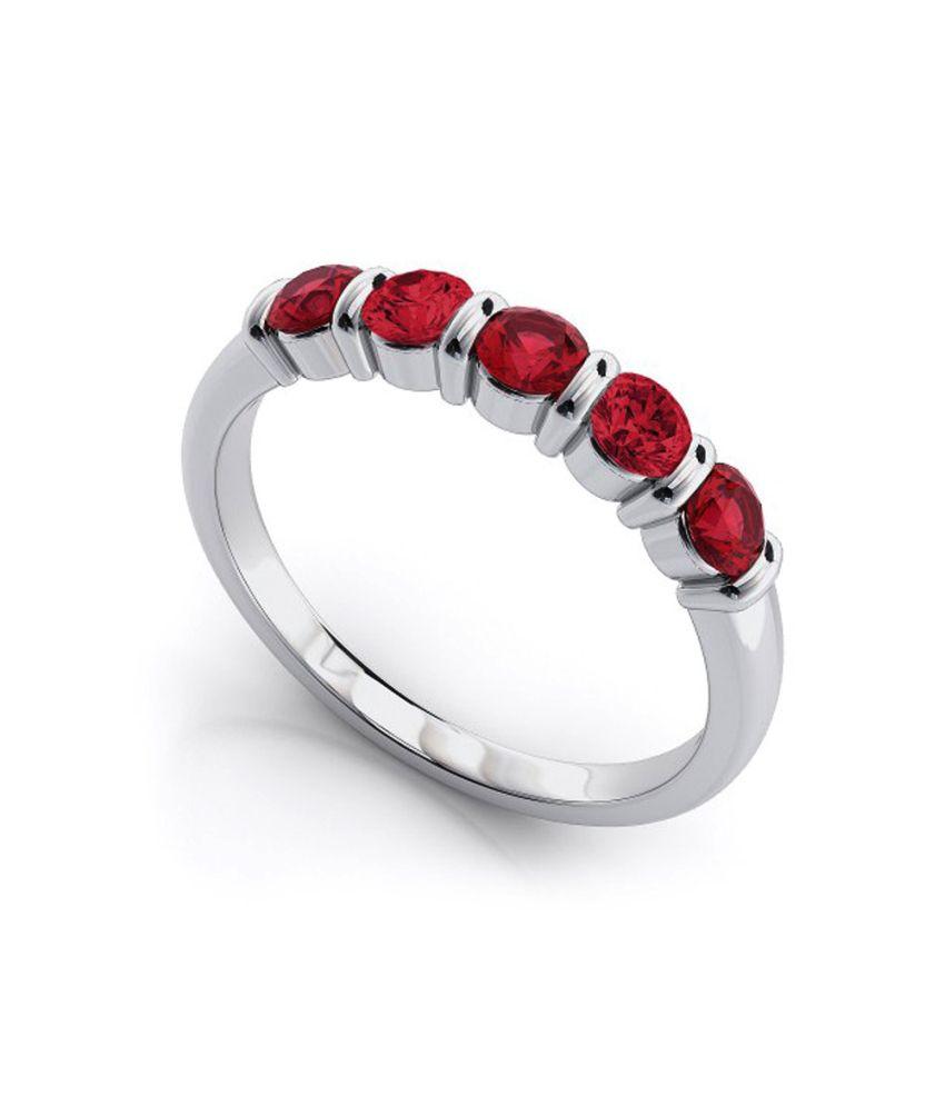 Videe 9 Kt Gold Hallmarked Ruby Ring