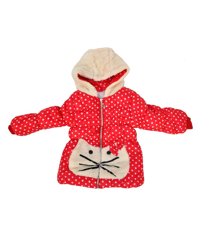 Kids Rock Red Hooded Jacket For Girls