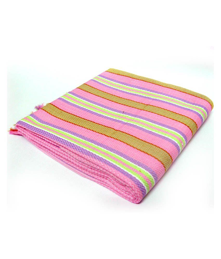 Sathya Pink Cotton Bath Linen