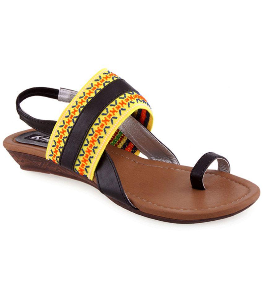 27cdf9d2bc76de Kielz Black Sandal Price in India- Buy Kielz Black Sandal Online at Snapdeal