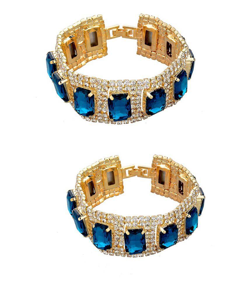 Amour Blue Party Wear Bracelet - Pack Of 2