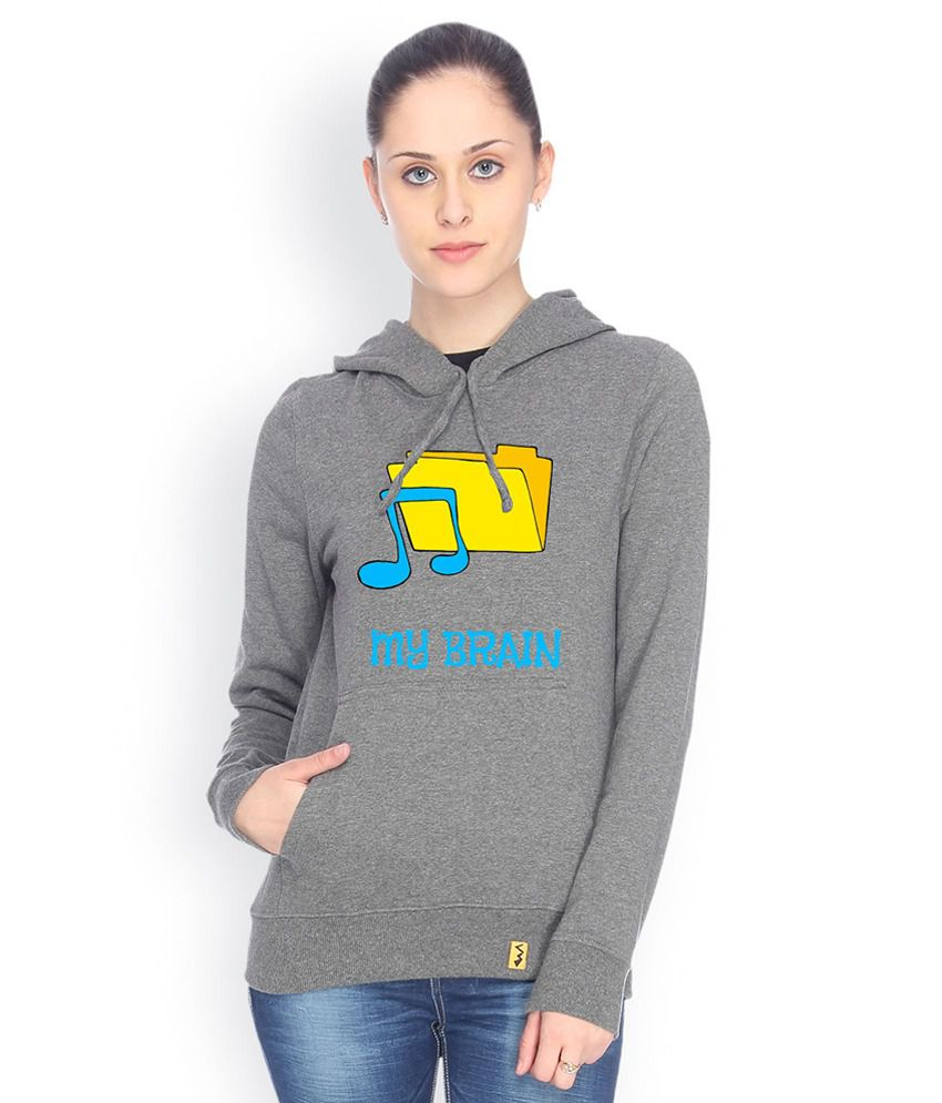 Campus Sutra Gray Cotton - Fleece Non Zippered