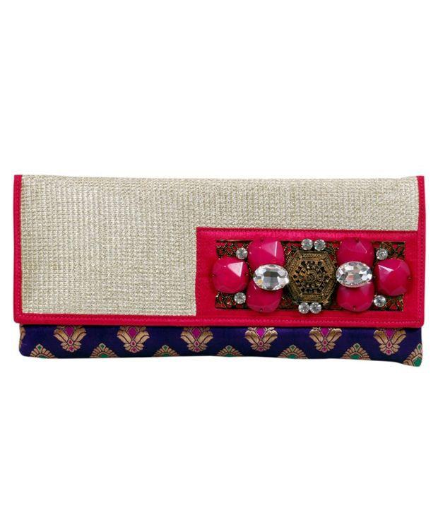 Craftstages Pink & Purple Jarkan Broach Clutch