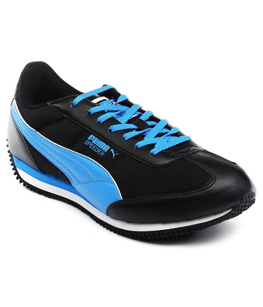 Puma Speeder Tetron II Ind Black Sports Shoes