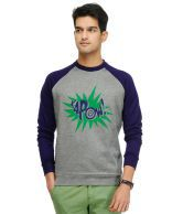 Yepme Gray Cotton Sweatshirt