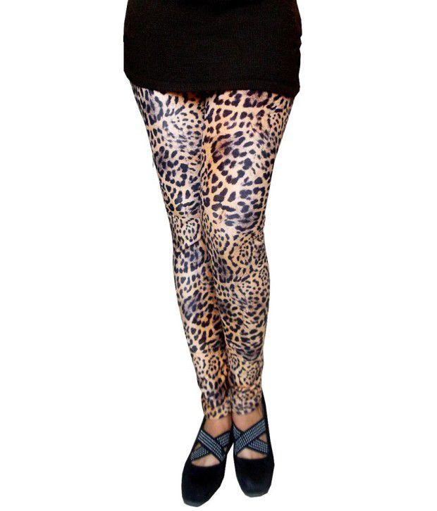e68981db223211 Auraori Vogueaura Woolen Fleece Stretchable Animal Print Leggings .