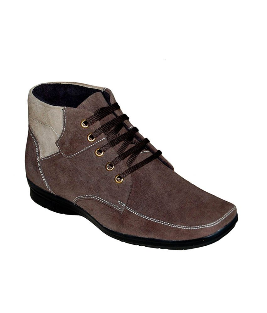 Gmerd Brown Sued Leather Boot