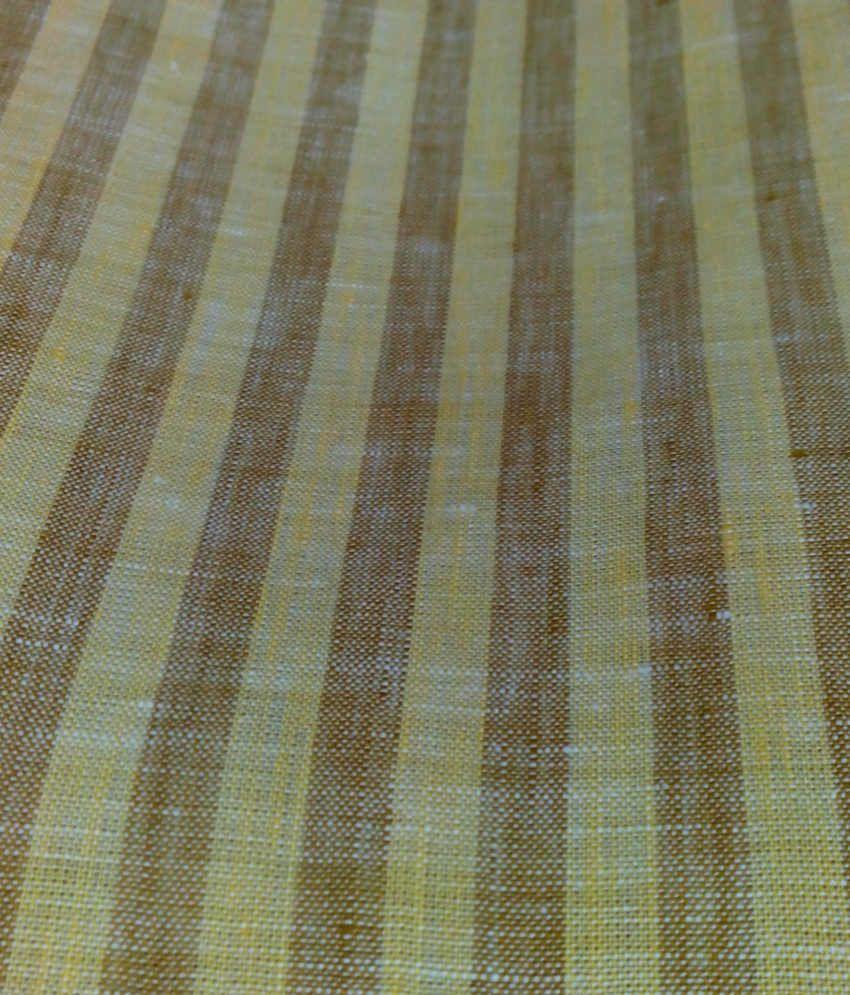 J-Hampstead J Hampstead Yellow Linen Unstitched Shirt Piece