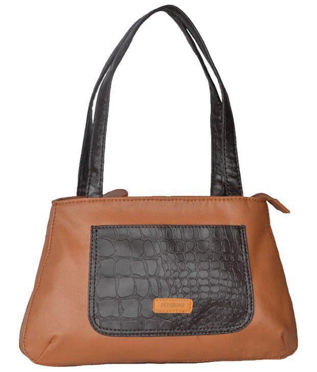 Peperone Conspicuous Brown Shoulder Bag