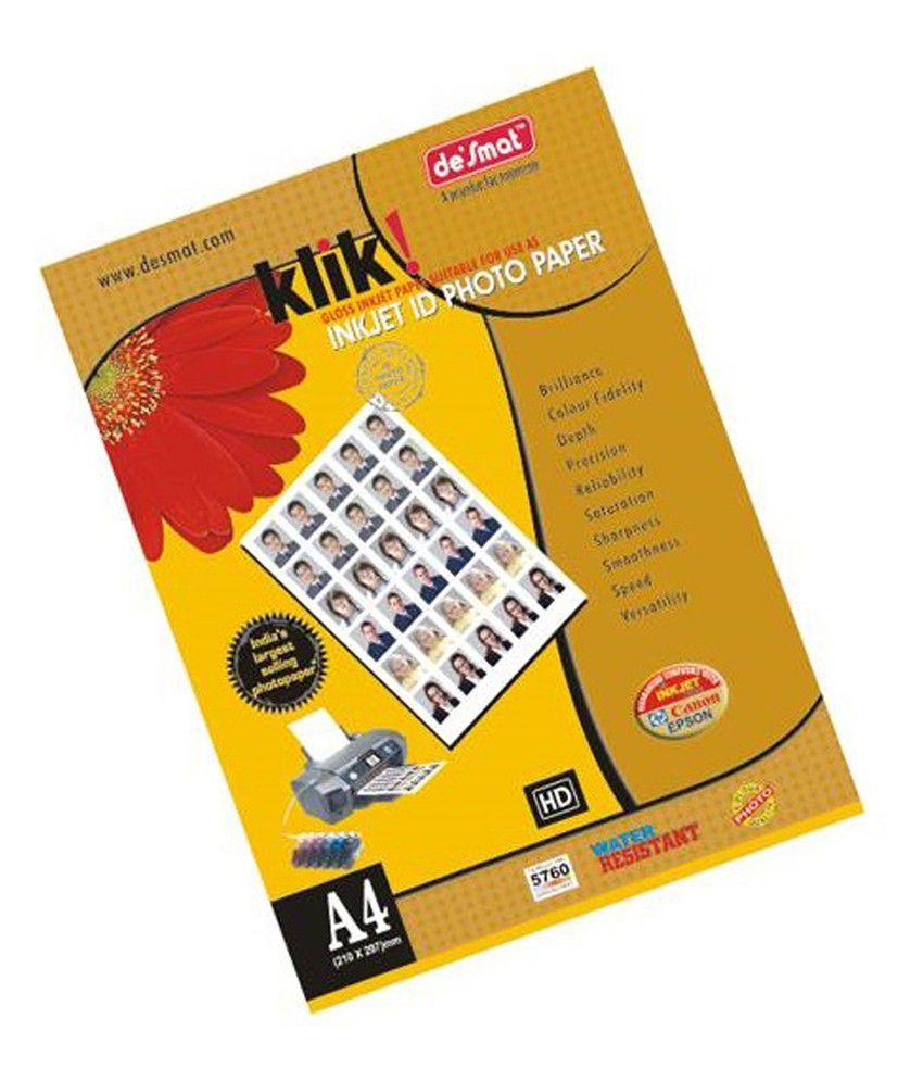 Jain typewriters inkjet id photo paper printing paper buy for Best buy photo printing
