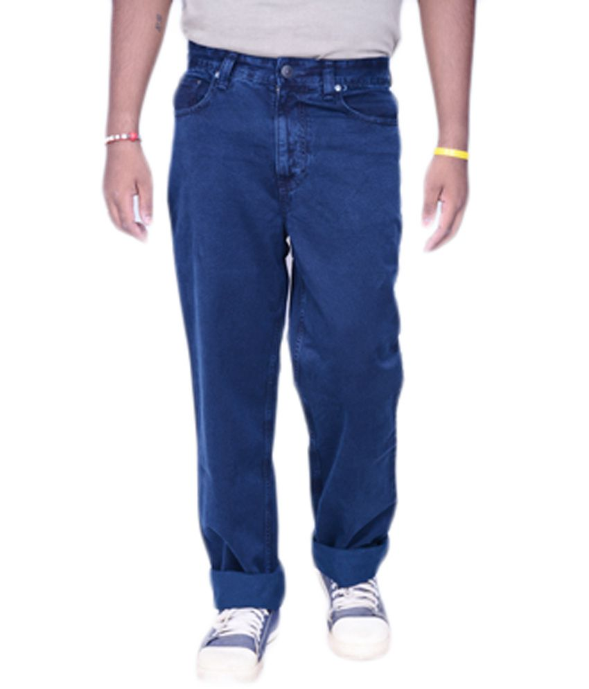 Killer Navy Cotton Regular Fit Basic Jeans