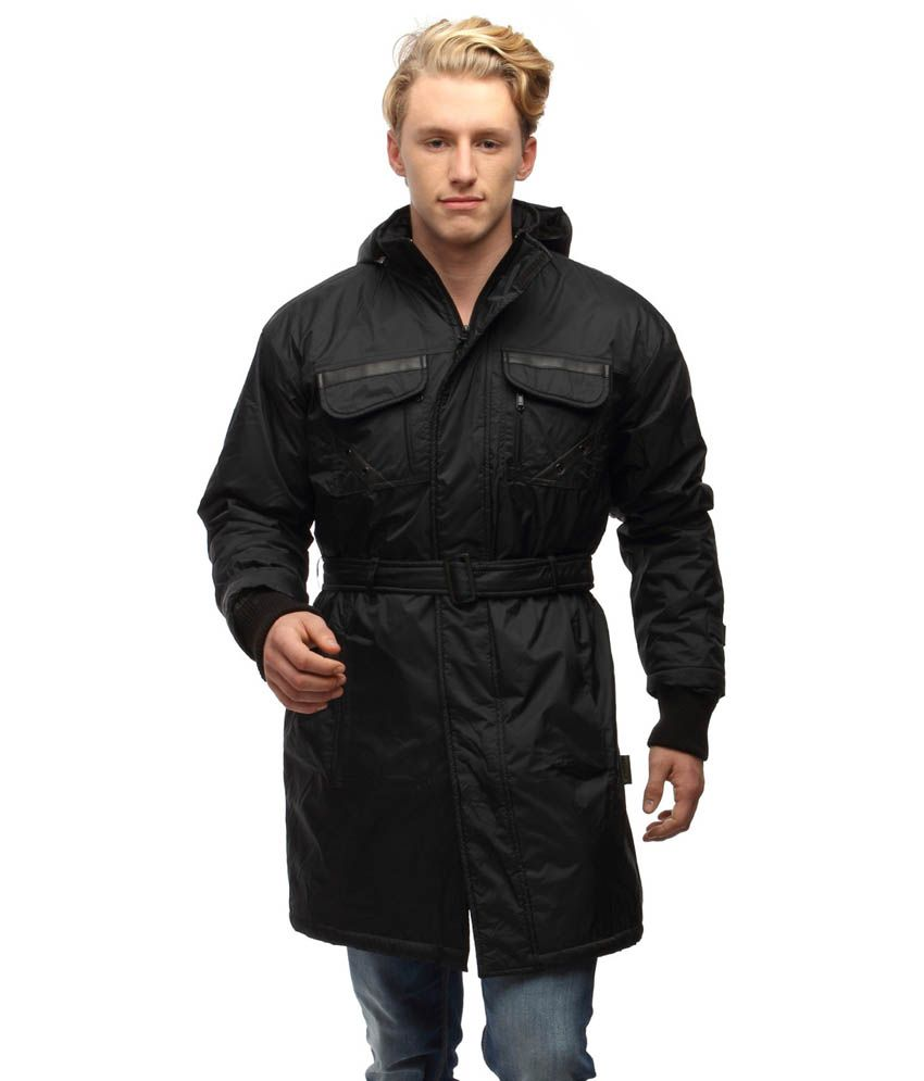823bc3c09ac Wild Nature Mens Waterproof Trench Coat With Fur And Detachable Hood (Black)  - Buy Wild Nature Mens Waterproof Trench Coat With Fur And Detachable Hood  ...