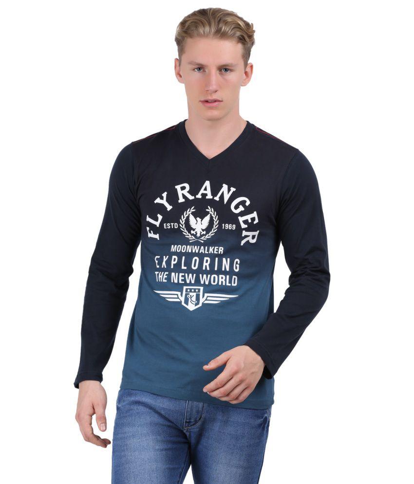 Moonwalker Men V. Neck Full Sleeve T-shirt