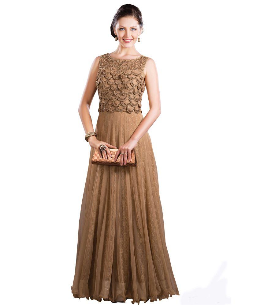 008a47b358 Replica4all.com Garima Creation Golden Colored Party Wear Gown - Buy  Replica4all.com Garima Creation Golden Colored Party Wear Gown Online at  Best Prices in ...