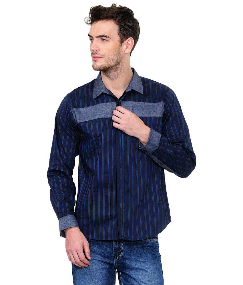 Yepme Navy Casuals Shirt Buy Yepme Navy Casuals Shirt