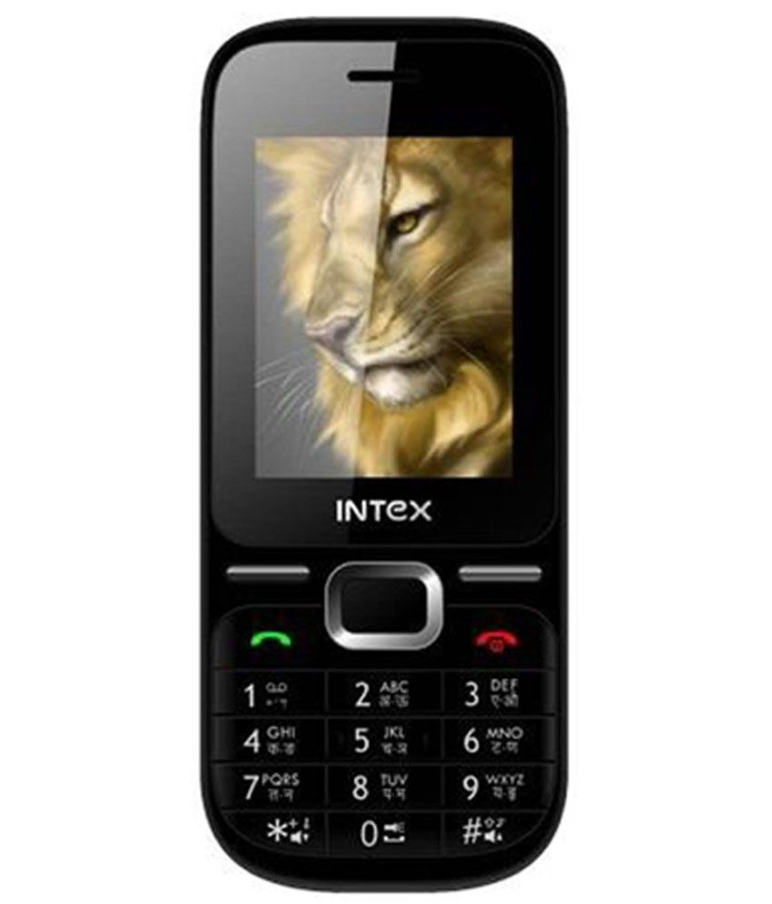Intex Leo Blue Black 60 KB Mobile Phone